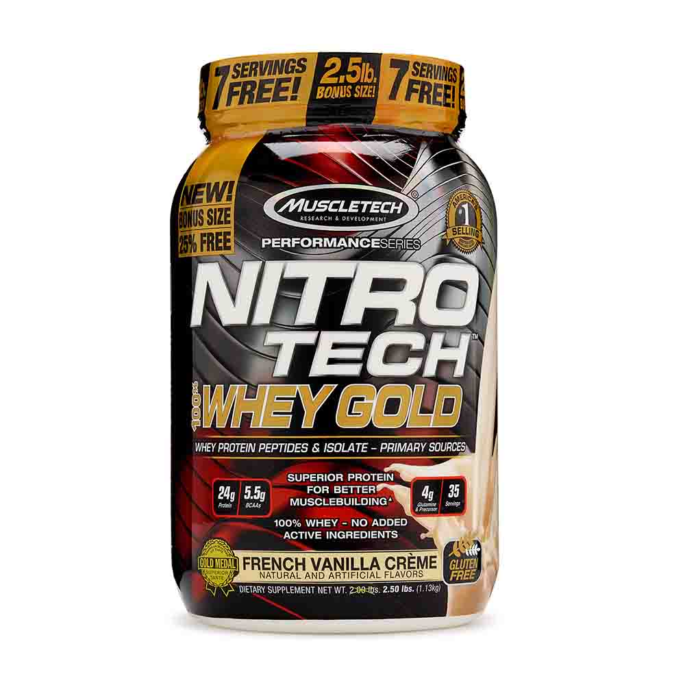 Muscletech Nitro Tech 100% Whey Gold 2.2 lbs